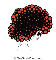 abstract  Color round hair - Illust