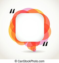 Abstract color speech cloud. Quote layout