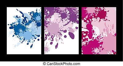 Abstract color splash on white background vector illustration