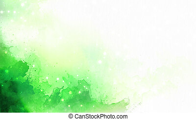abstract color splashes on white background. Green