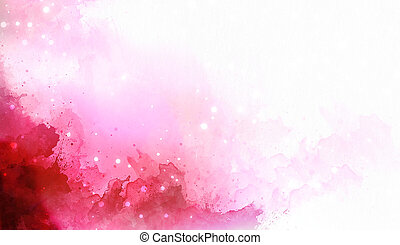 abstract color splashes on white background. Violet