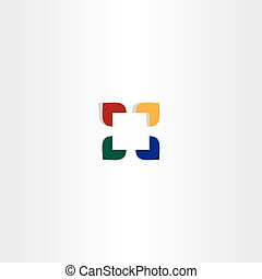 abstract color square business logo icon
