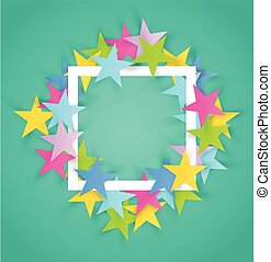 Abstract color stars frame