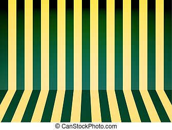 Abstract color stripes background, room interior. Vector...