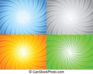 abstract color sun