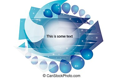 Abstract color template for text