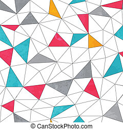 abstract color triangle seamless pattern with grunge effect