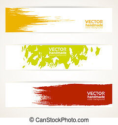Abstract color vector banner set