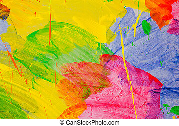 abstract color wall red blue green yellow