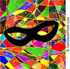 abstract colored background image mask