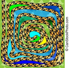 abstract colored background image of spiral footprint...