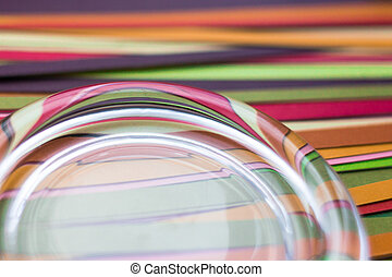 Abstract colored background of strips of colored paper