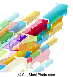 Abstract colored background with Arrows. Illustration for design.