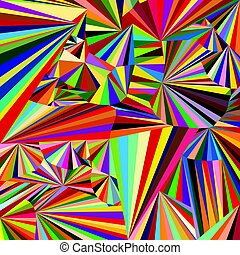 Abstract colored background with colored triangles