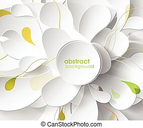 Abstract colored background with leafs and place for your text.
