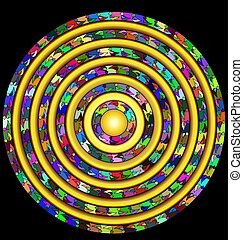 abstract colored circle - abstract colored image of circle...