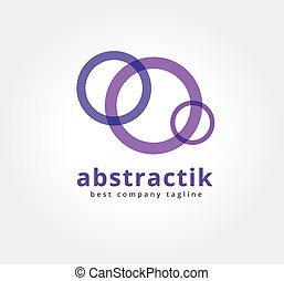 Abstract colored circles vector logo icon concept. Logotype...