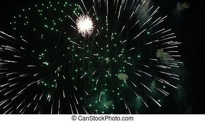 Abstract colored firework background with free space for...