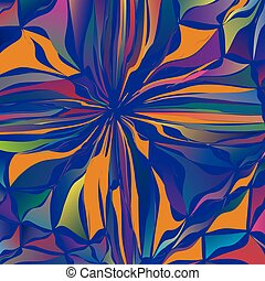 Abstract colored floral background