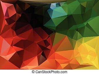 Geometric Triangle Background - Abstract Colored Geometric...
