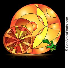 abstract colored image of orange - background variation vwth...