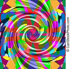abstract colored image of spiral