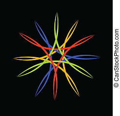 Abstract colored logo vector