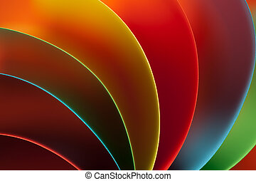 abstract colored paper structure on orange background