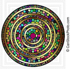 abstract colored plate - abstract colored image of circle...