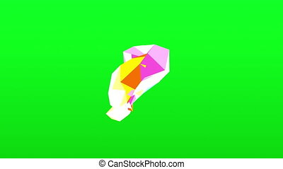 Abstract colored polygonal crystal surface. Geometric poly...