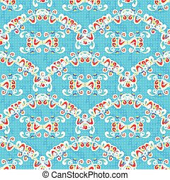 Abstract colored seamless pattern on a blue background vector illustration