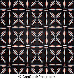 Abstract colored seamless pattern on black background