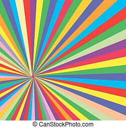 Abstract Colored Sunburst