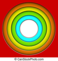 Abstract colorful 3D circles vector background