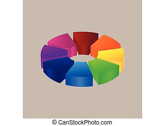 Abstract colorful 3d icon logo design