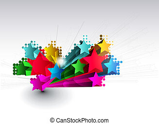 3d star element design - Abstract colorful 3d star element...