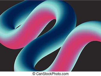 Abstract colorful 3d wavy shape background