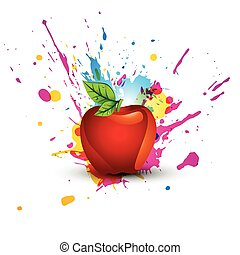 abstract colorful apple design