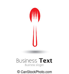 abstract colorful arrangement of spoon and fork- vector graphic. The illustration represents icons and symbols for hotel, restaurants, food blogs, websites, etc