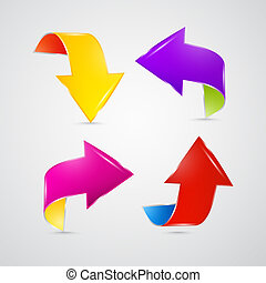 Abstract Colorful Arrows Set