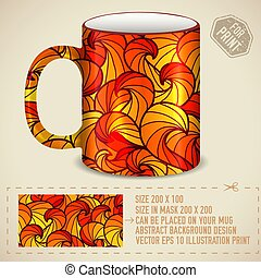 abstract colorful art design for print on a cup. Vector illustration concept