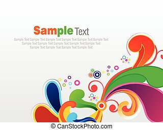 abstract colorful artistic explode background vector illustration