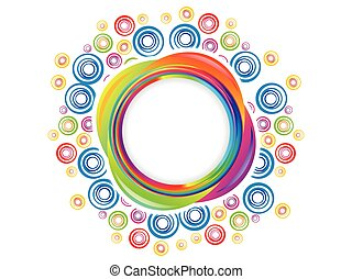 abstract colorful artistic rainbow circle explode