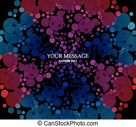 Abstract Colorful Background. - Vector picture of circles on...