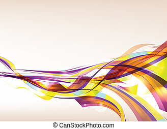 Abstract Colorful Background Flow