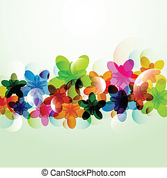 abstract colorful background flower