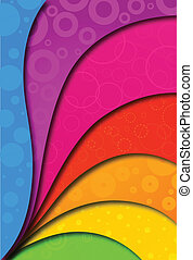 Abstract colorful background for design. Vector
