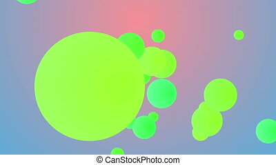 """Abstract colorful background from flying balls"""