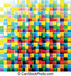 Abstract colorful background from square parts with space for text. Vector illustration, EPS10