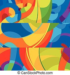 Abstract colorful background. Modern design template
